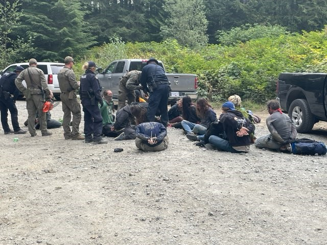 The RCMP had arrested 740 people as of Saturday, Aug. 21, 2021, while enforcing a court injunction to clear the way for Teal Jones Group, which has logging rights in the blockaded area. RCMP