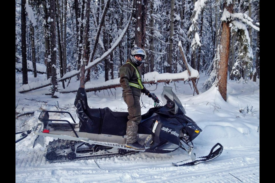 In the winter, a snowmobile is another tool used by archaeologists. Submitted photo