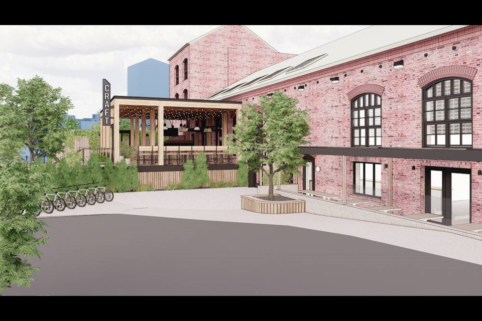 Artist's rendering of the proposed renovation to the Canoe Brewpub. Credit: CRAFT BEER MARKET