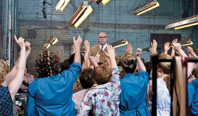 Rallying for the cause: Bob Hoskins appears as the union rep who helps female workers at the Ford plant in Made in Dagenham.