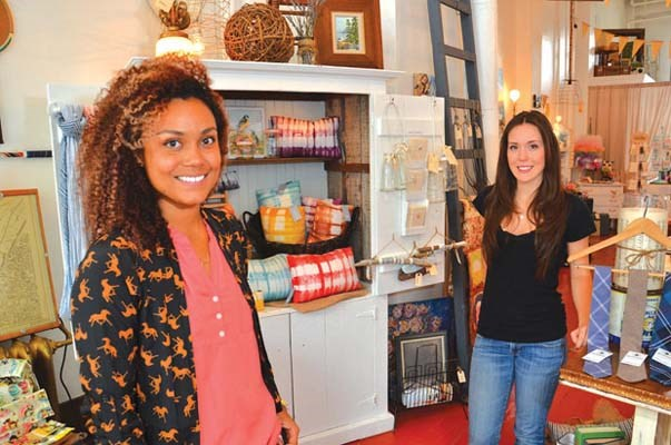 Retro chic: Sisters Julie Dewhurst and Emma Nash recently opened Brick and Mortar Living. The women searched for months for a retail space they could afford to lease in Vancouver but came up empty handed. They did find an affordable spot in downtown New West.