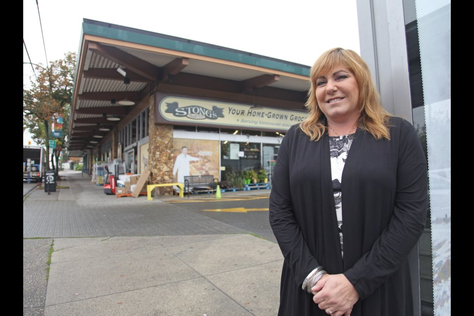 Cori Bonina, the president of Stong's Market, is the granddaughter of Ralph Stong, who founded the original location of the venerable grocery store in 1955.