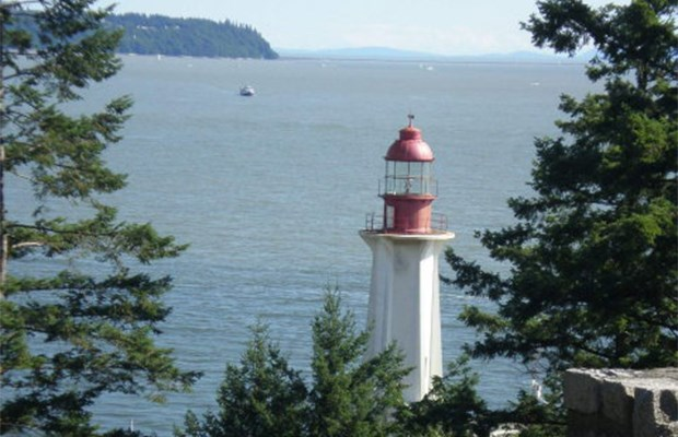 The namesake lighthouse.