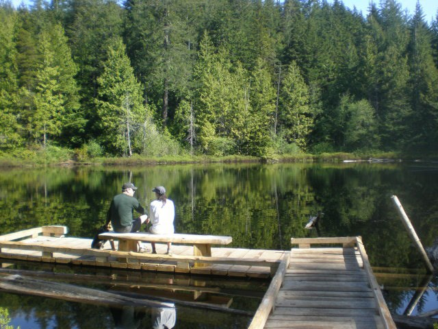 The summer serenity of Whyte Lake.