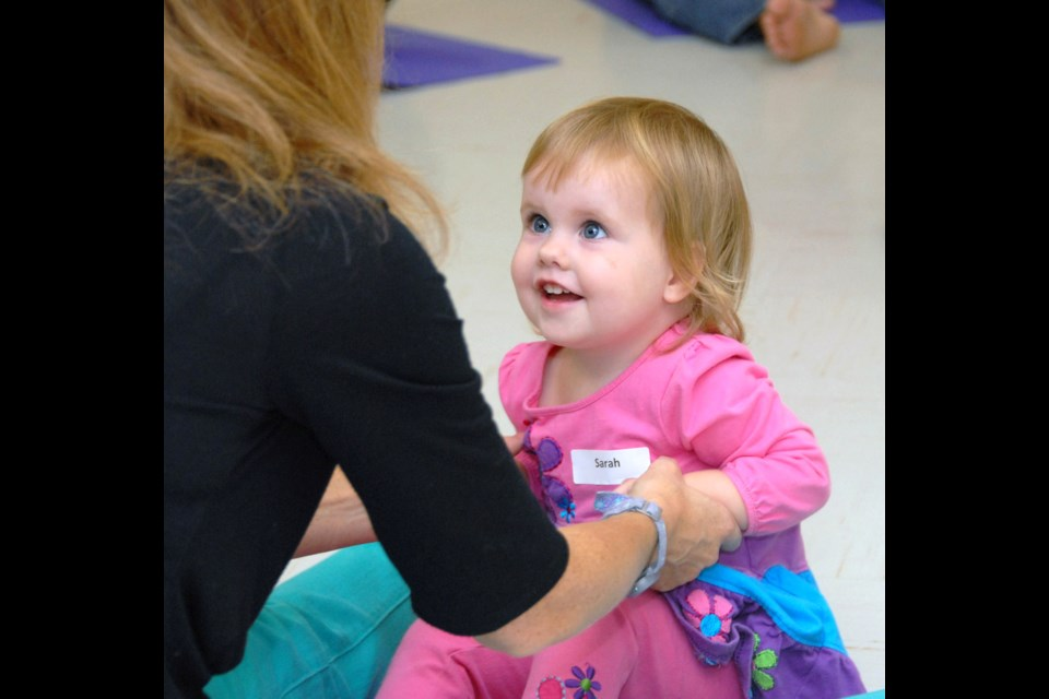 Fun times: Sarah McPherson, aged 20 mos., plays with mom Jennifer McPherson during Toddler's First Dance class at Cameron Rec Centre.