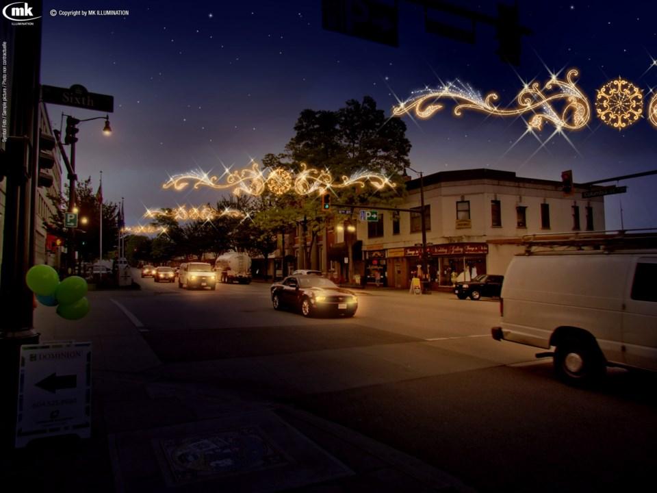 Columbia Street lights