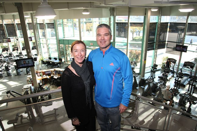 Returning to their roots: Alison and Jeff Humphries will soon be relocating Dynamic Fitness to downtown New Westminster, where the business got its start. It's leaving Royal City Centre and moving into the Shops at New West, which is at the New Westminster SkyTrain station.