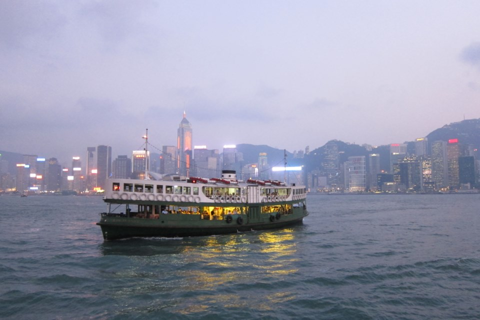 Star Ferry crossing Hong Kong's Victoria Harbour
