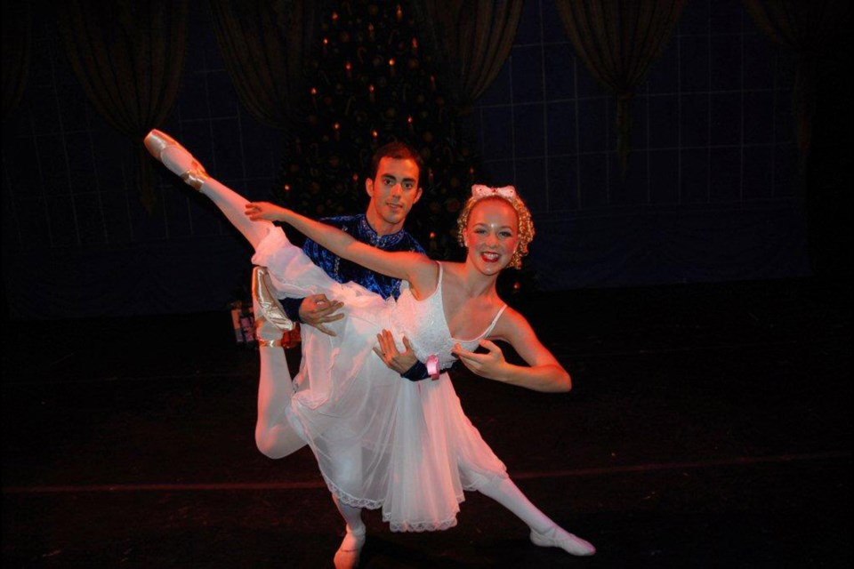 Madison Stocker as Clara with Eloie Homier as Prince in the Royal City Youth Ballet's Nutcracker, onstage in Burnaby Friday, Dec. 6.