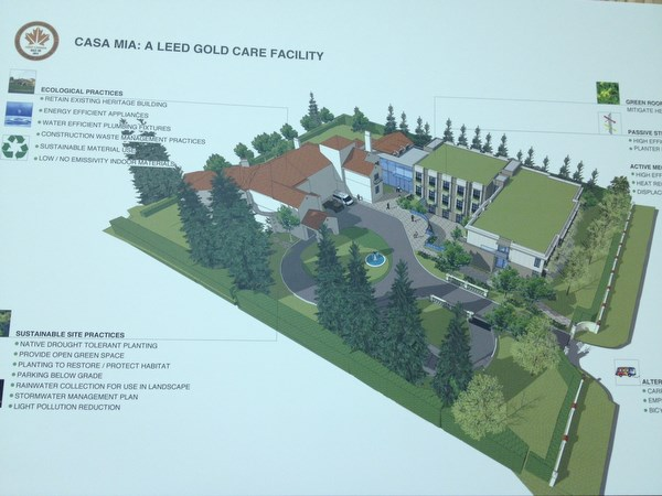 A rendering of the proposed redevelopment of the Casa Mia project at an open house Dec. 4.