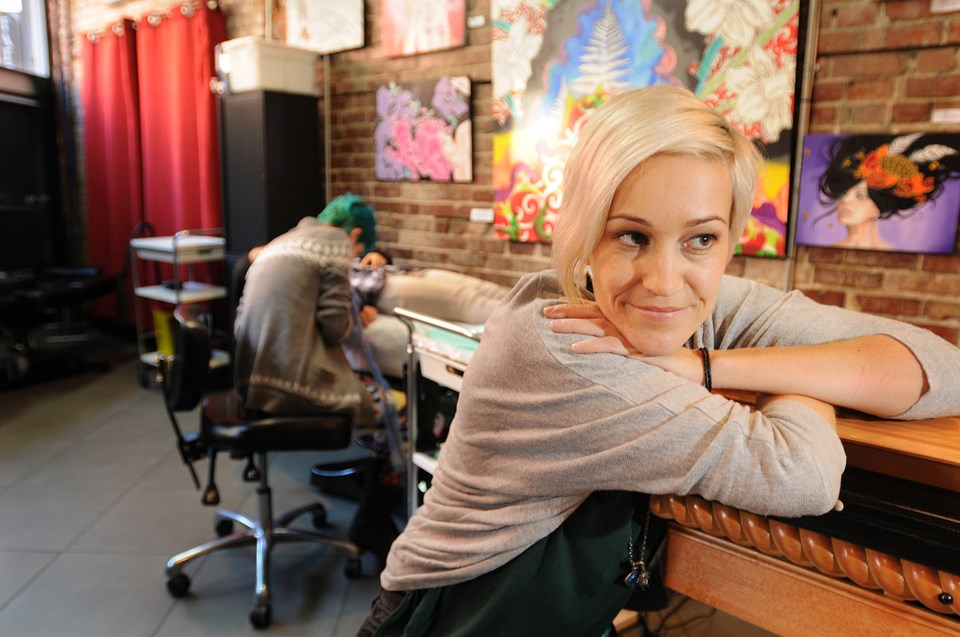 Luvia Petersen co-owner of Liquid Amber Tattoo
