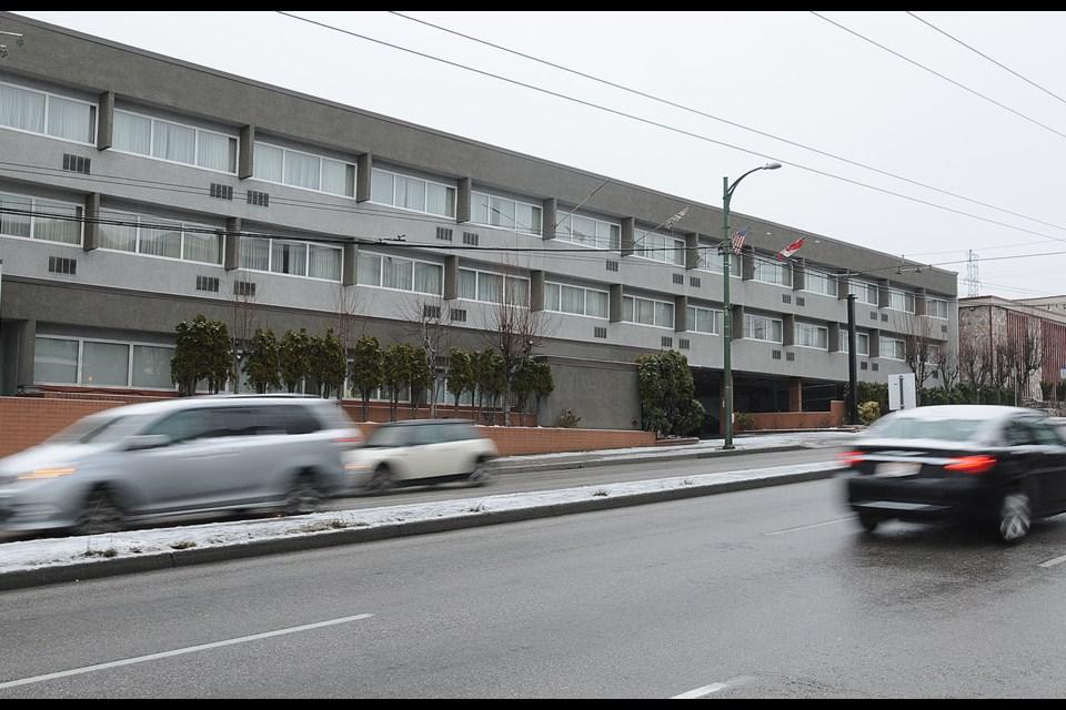 The former Ramada Inn at 3475 East Hastings Street. Photo Dan Toulgoet