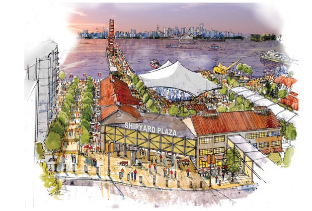 Lot 5, soon to be known as The Shipyards, as it will look of the City of North Vancouver follows through on the vision developed by its hired consultant, who took more than 1,000 pieces of input from the public.