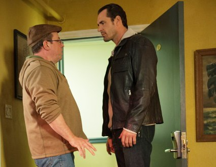Dan Payne stares down Brent Butt in the Vancouver-shot mystery comedy No Clue.