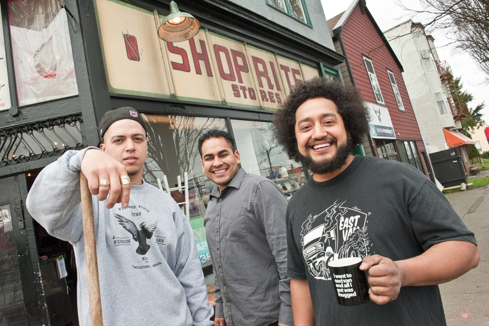 Rob Geary, Will Galvan and his brother Luis have created a haven for Eastside youth and artists out of their Hastings Street clothing store and workshop.