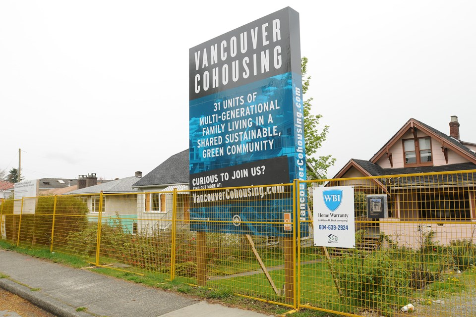 Construction on the city's first cohousing development in East Vancouver expected to start soon. Photo Dan Toulgoet