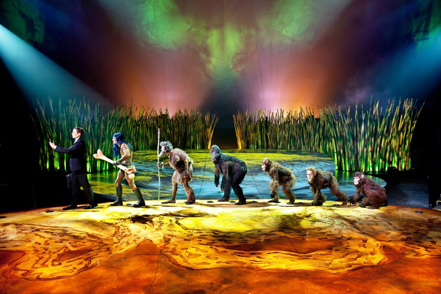 Humankind's evolution from primordial swamps features prominently in Cirque du Soleil's latest spectacle, Totem.