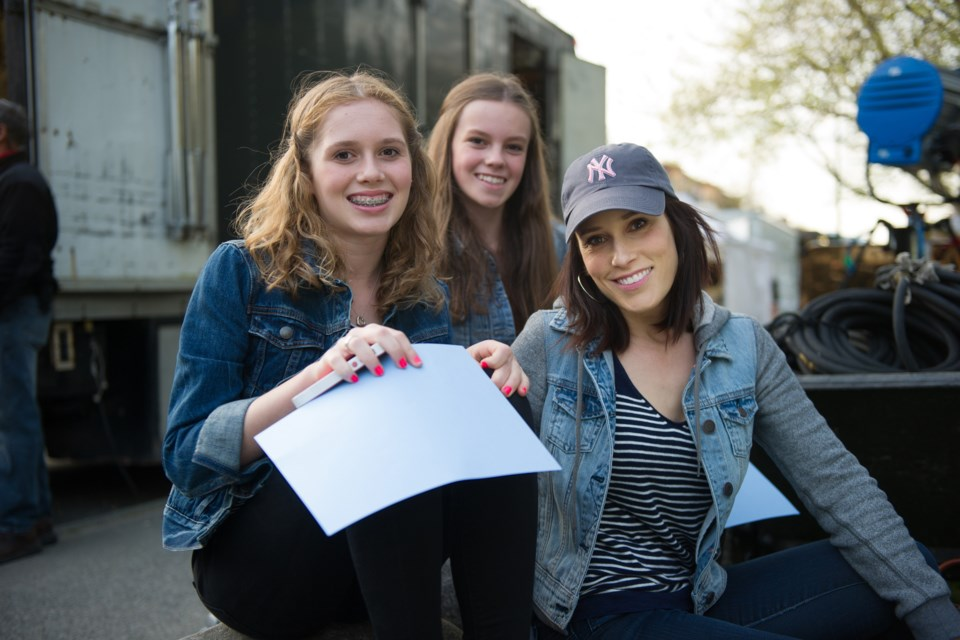 Robyn Ross, seen here with her daughter Siena and a friend visiting a film set, says collaborative divorce gave her peace of mind. Photo courtesy Robyn Ross