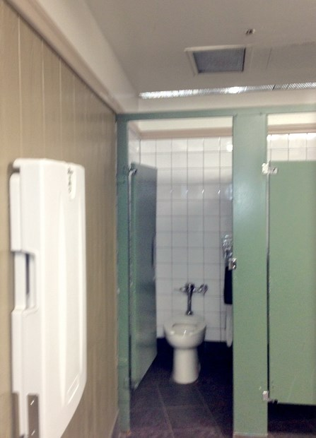 The Whistler washroom where a woman found she was being recorded by a hidden camera.