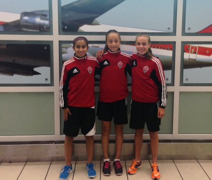 Left to right: Camila Gomez Hernandez, Julia Grosso and Emma Regan are off to the Cayman Islands representing Canada at the u-15 girls' CONCACAF soccer championships this week.