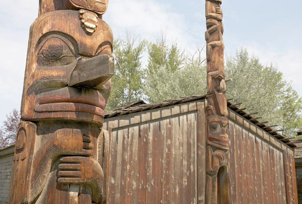 'Ksan Historical Village and Museum in Hazelton, northern British Columbia.