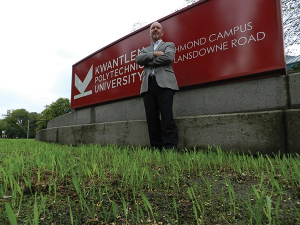 TEDX KPU takes place on Sep. 27, 2014 at the Melville Centre for Dialogue. Pictured is Kent Mullinix, food system critic.
