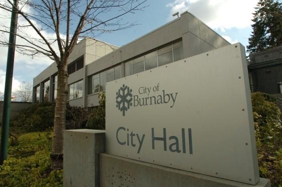 Burnaby City Hall sign