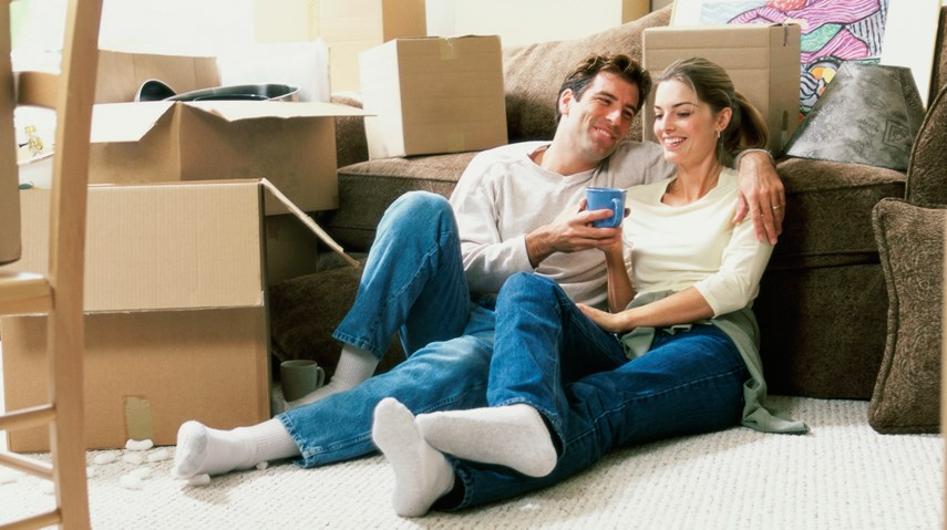 Young couple first-time home buyers