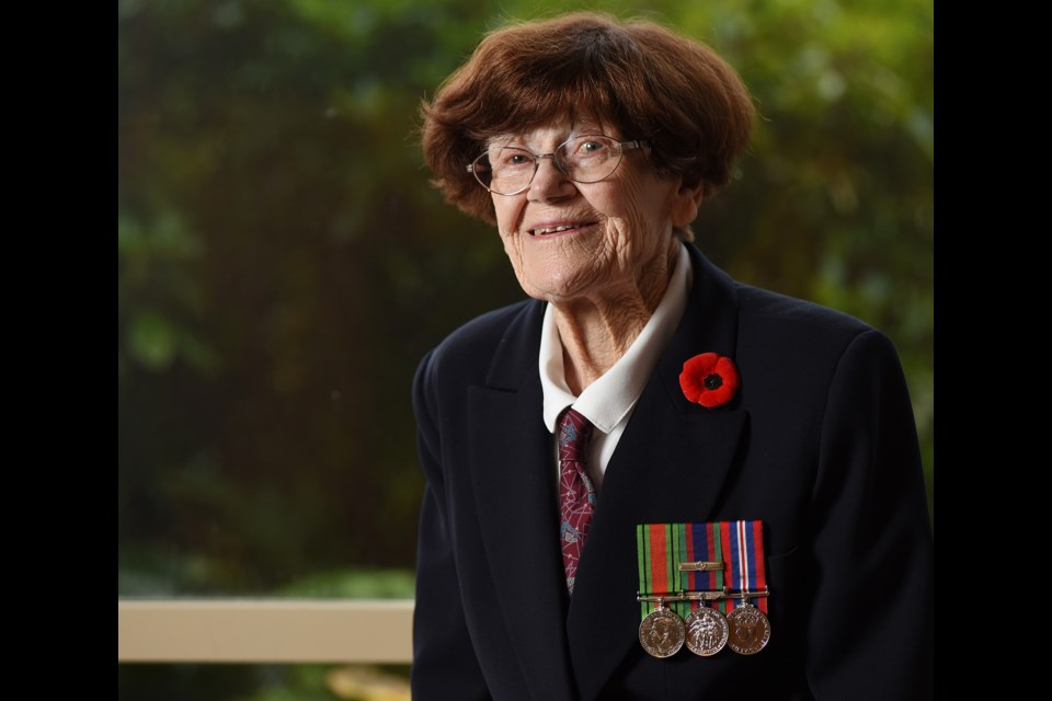 Retired soldier Doris Gregory has penned a memoir about her time served in the Second World War. Photo Dan Toulgoet