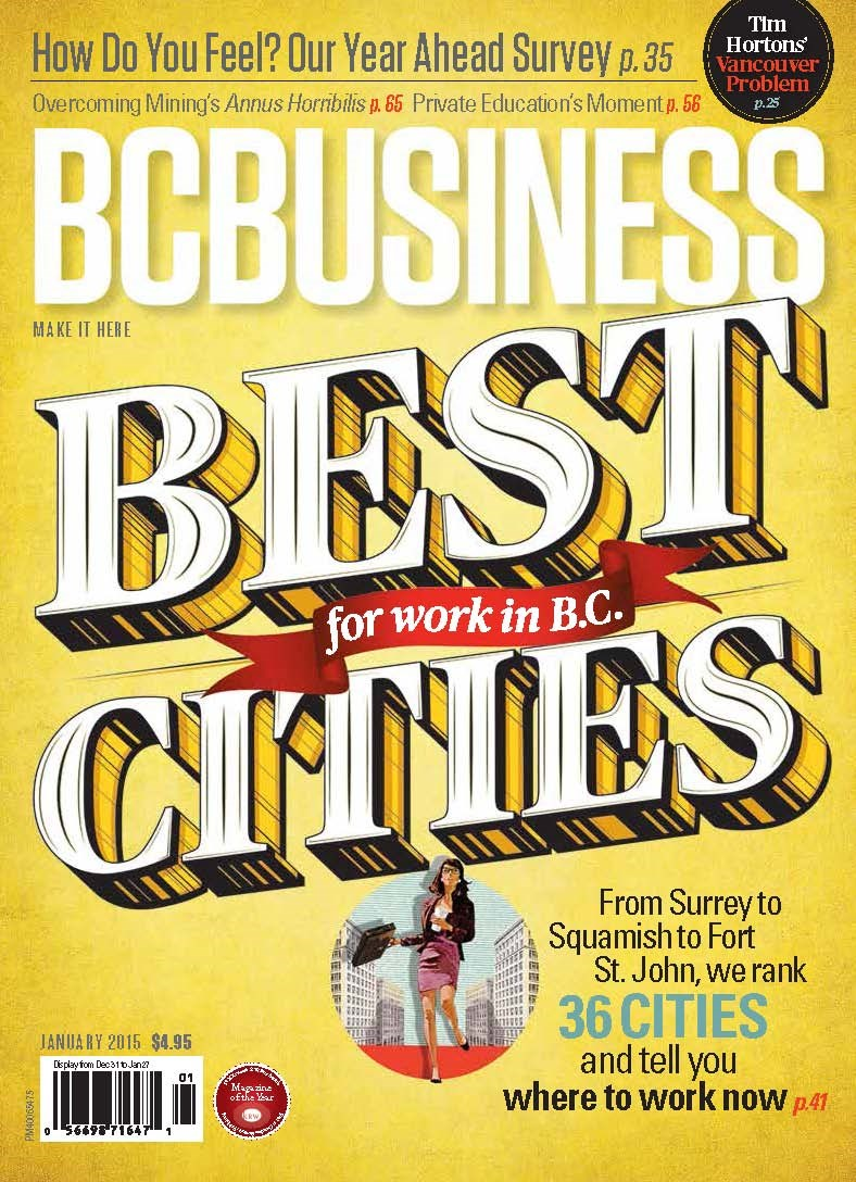 BC Business's January cover.