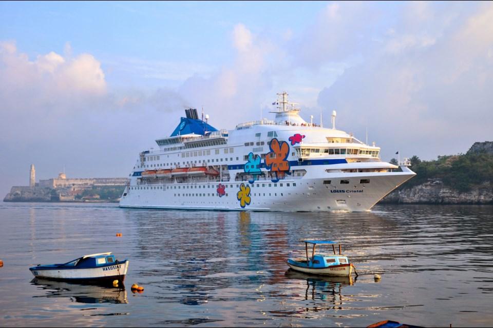 The MV Louis Cristal, operated by Cuba Cruise, circumnavigates this Caribbean island on week-long themed cruises. Photo: Cuba Cruise