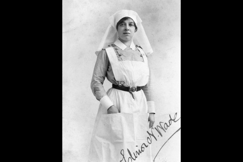Nursing Sister Elinor Newton Wade served with No. 5 Canadian General Hospital during the First World War. PHOTO Medringtons Ltd. Photographers, City of Vancouver Archives Photo CVA 371-1869.