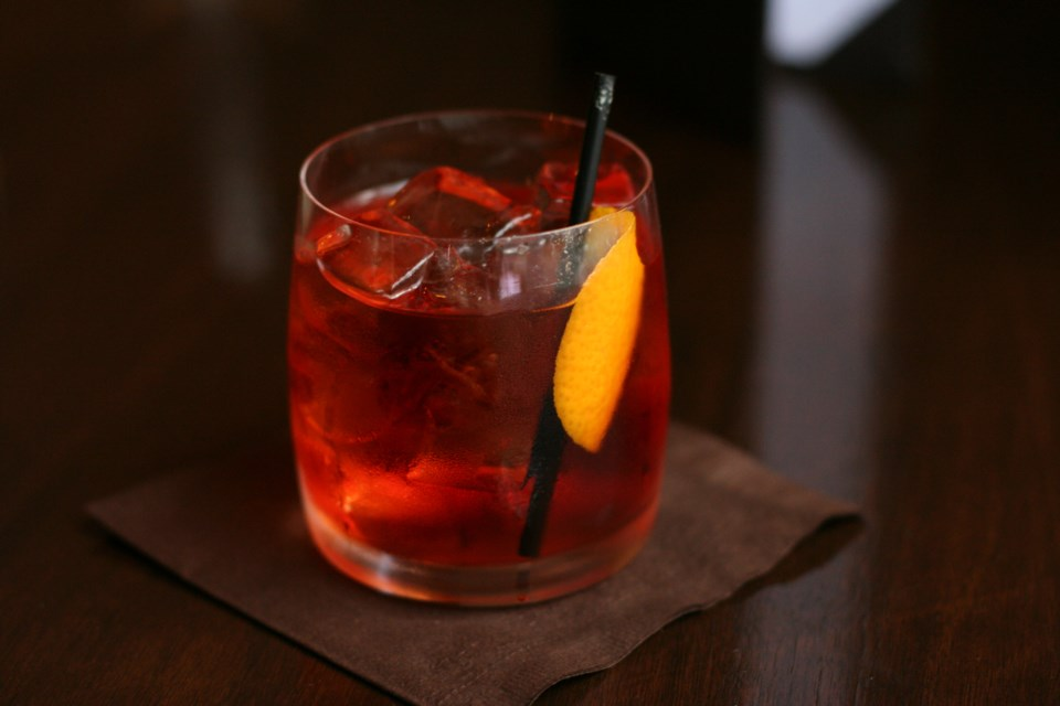 The Negroni cocktail is made with equal parts Campari, sweet vermouth and gin.