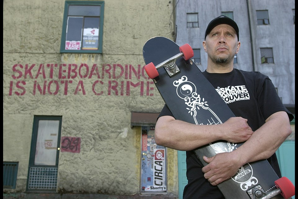 """Local skateboard legend Peter Ducommun, aka, P.D.: """"I think to some people, skateboarders represent too much freedom and they can't handle it..."""""""