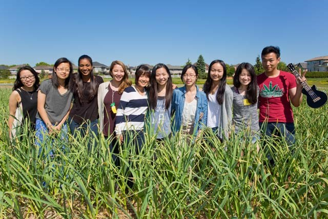 The Get Rooted team at Terra Nova Sharing Farm. Get Rooted is a new Richmond Food Security program for the city's youth