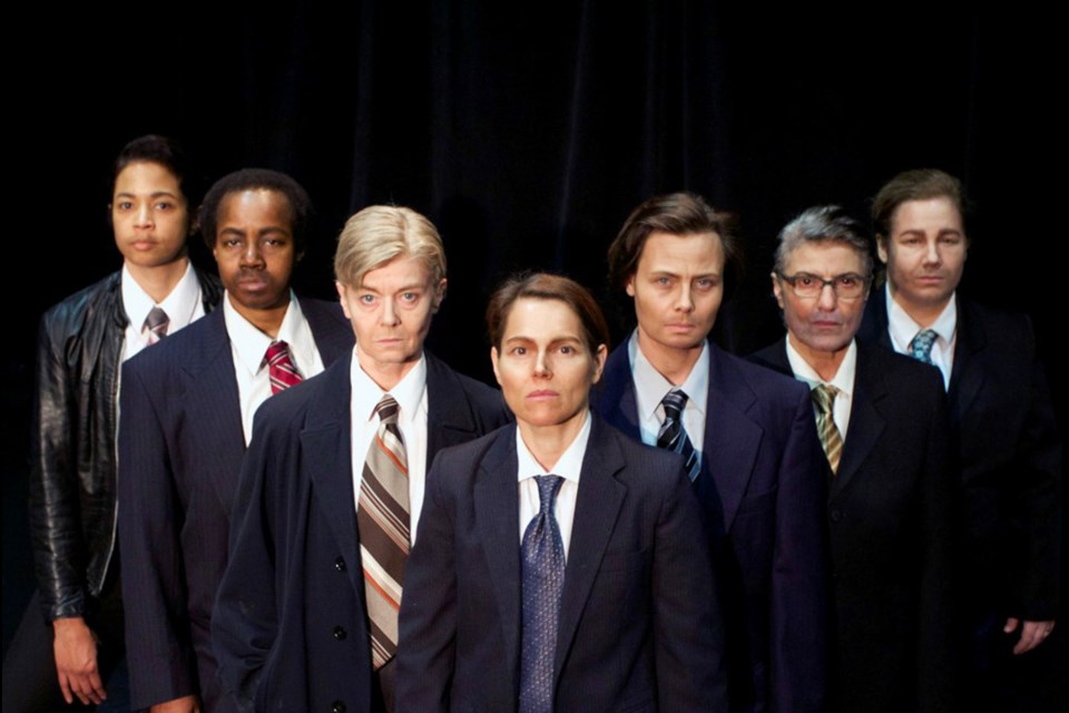 The all-female cast of Classic Chic Productions' Glengarry Glen Ross.