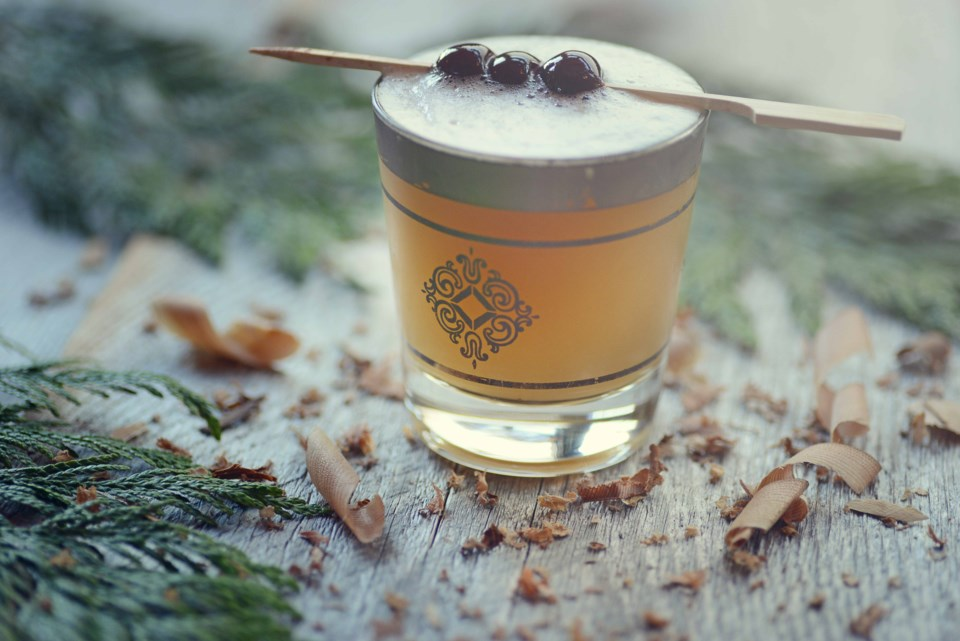 The Cedar Sour served at Tofino-based Wolf in the Fog is a cocktail so Canadian, it's made with real