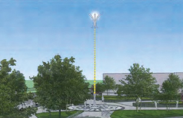 The $250.000 multipole public art installation is still drawing opposition from the public. Photo submitted