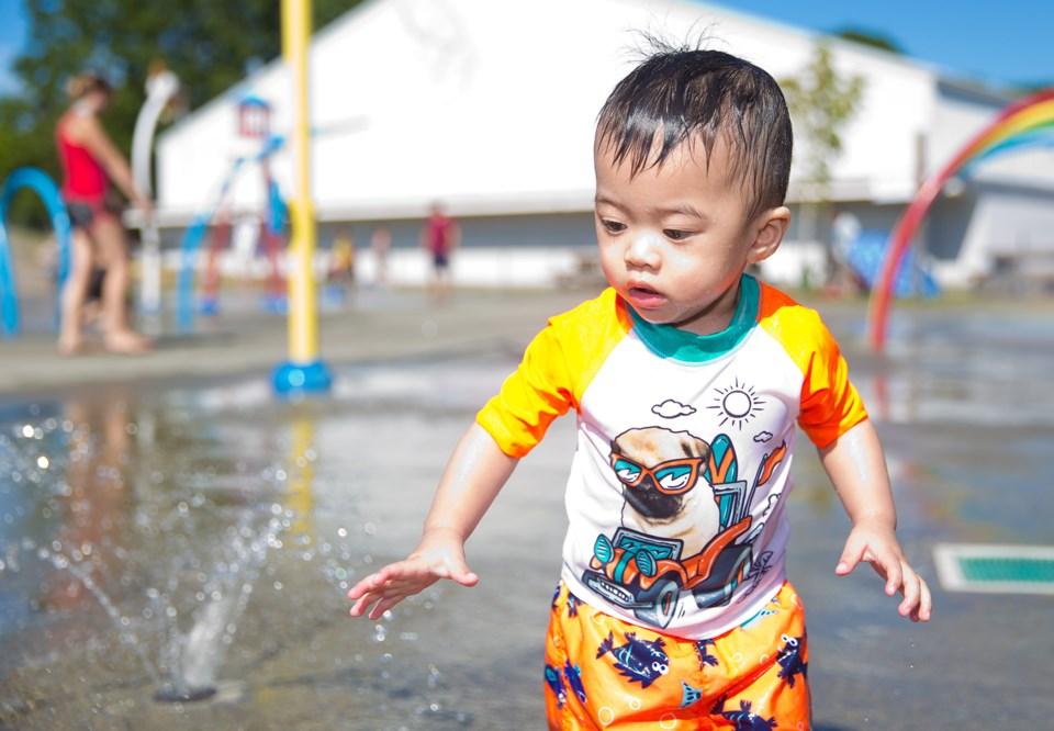 Water park boy
