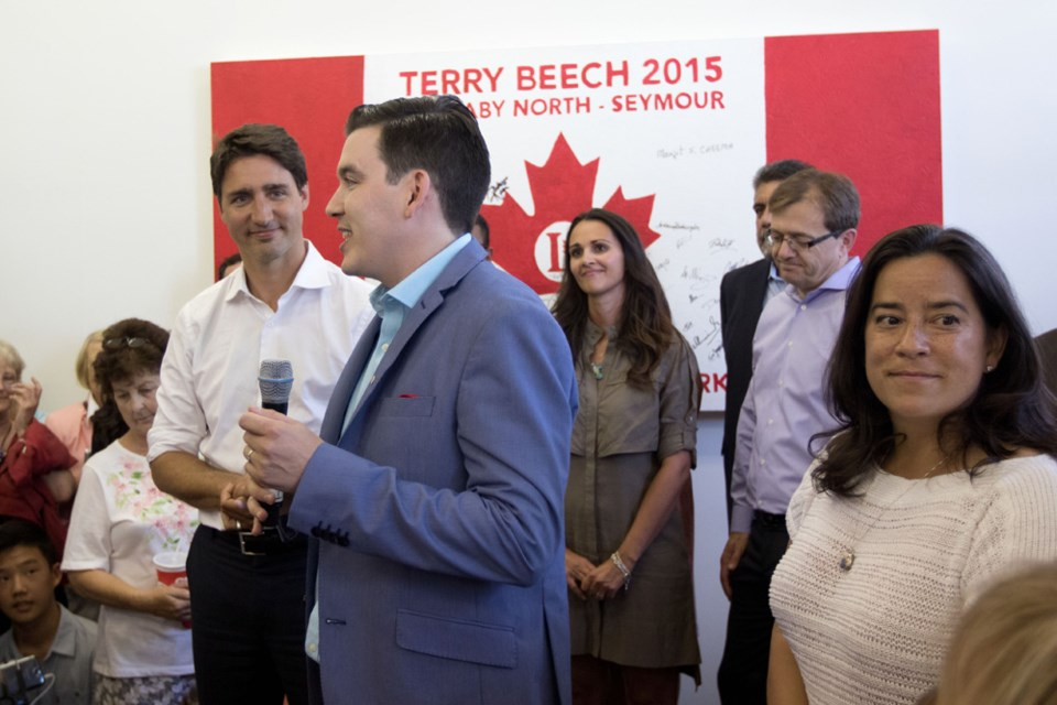 Newsmaker: Terry Beech, seen here with Justin Trudeau at his Burnaby campaign office in the summer, won the Burnaby North-Seymour riding for the Liberals on election night.
