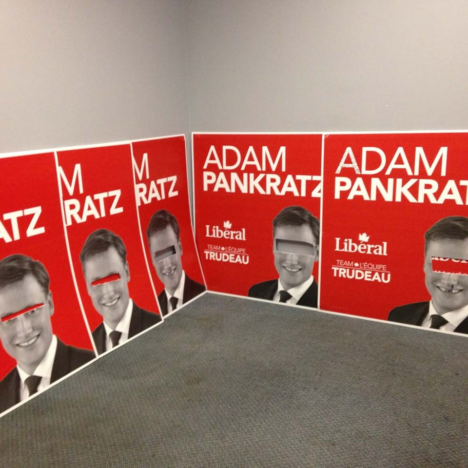 Adam Pankratz election signs