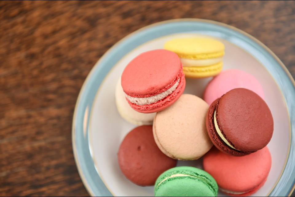 Less sweet than most, Thierry's colourful selection of macarons come with a surprise inside: fresh fruit. Photo Dan Toulgoet