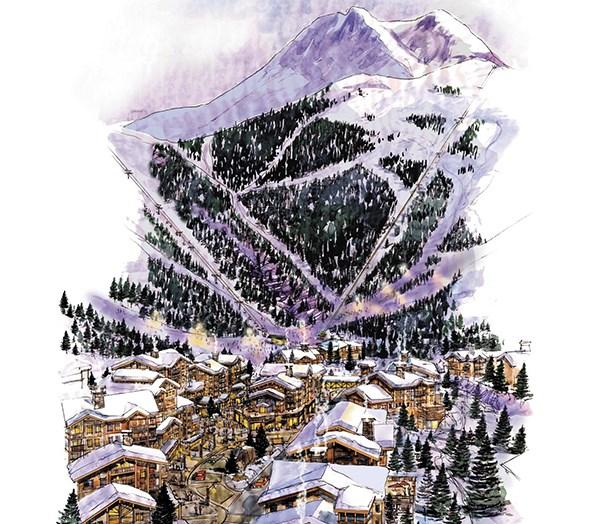 Artist's rendering of planned Garibaldi at Squamish resort