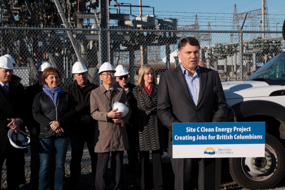Petrowest CEO Rick Quigley speaks in Burnaby. Petrowest is part of the consortium awarded a $1.5-billion contract to build the Site C dam.