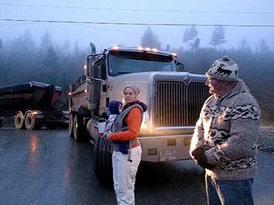 Shawnigan blocked truck