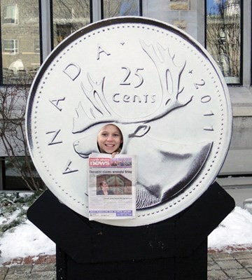 Kristen Schulz takes the North Shore News to the Royal Canadian Mint while visiting Ottawa.