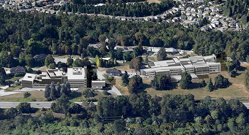 A photo illustration of what Riverview Hospital could look like under the provincial government's vision.