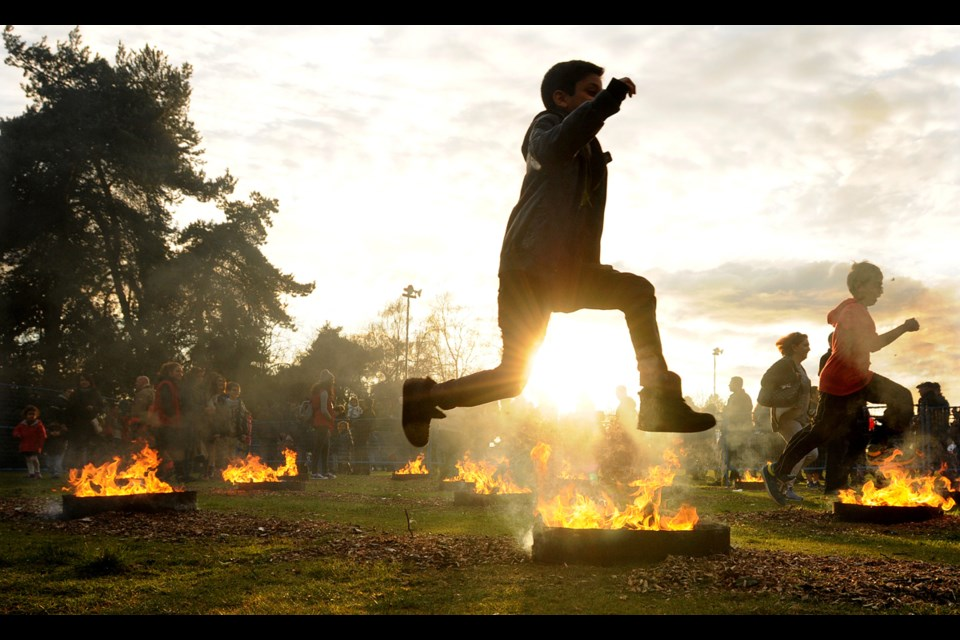 One of the events celebrating the Persian new year is the annual fire festival also known as Chaharshanbe Suri, which took place at Ambleside park in West Vancouver. Photo Dan Toulgoet
