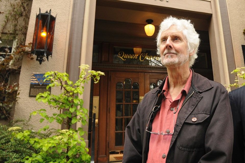 Michael Kluckner during a recent heritage tour in Vancouver. Photo Dan Toulgoet