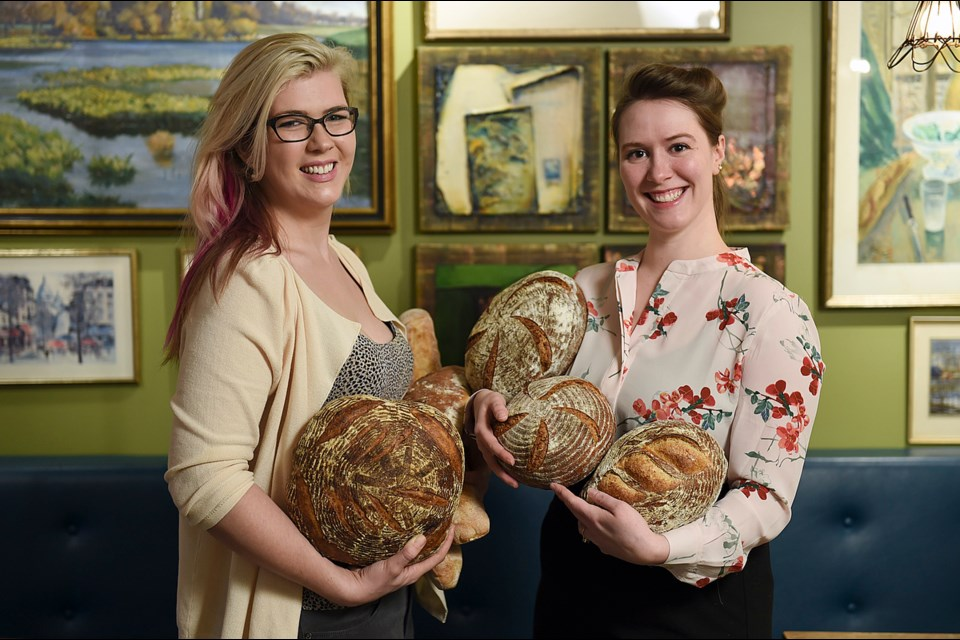 Elsie Born (left) and Olivia Darling operate the charmingly old school Batard Bakery in a renovated 104-year-old building on Fraser Street. The shop specializes in housemade breads and pastries. Photo Dan Toulgoet.